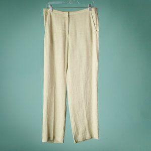 Eileen Fisher S Linen Hemp Straight Leg Pants